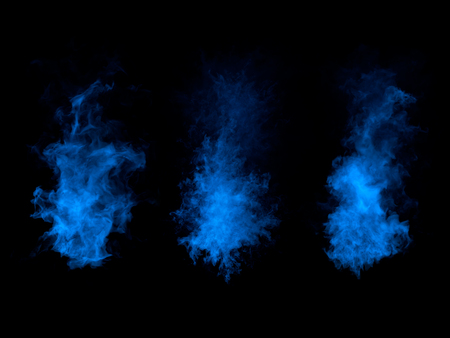 Abstract beautiful smoky shapes on black background. Stock Photo