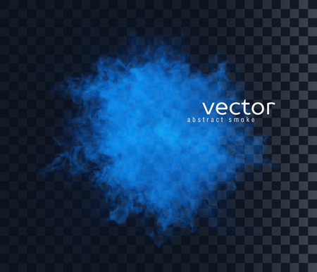 vapour: Vector illustration of smoky shape. Isolated transparent special effect. Illustration