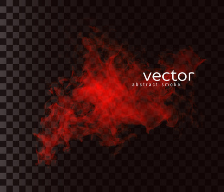 special effect: Vector illustration of smoky shape, Isolated transparent special effect.