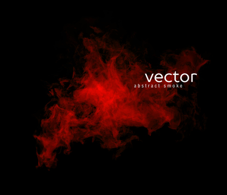 Vector abstract illustration of smoky shape on black background. Çizim