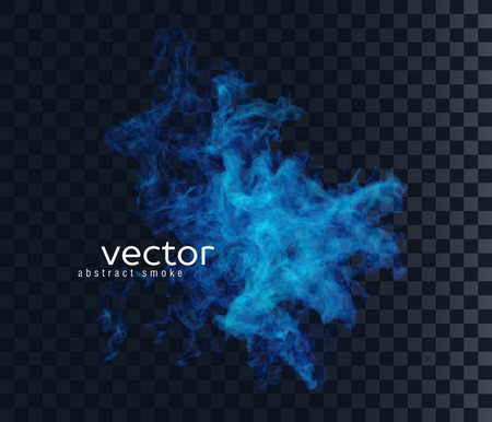 Vector illustration of smoky shape. Isolated transparent special effect. Ilustrace