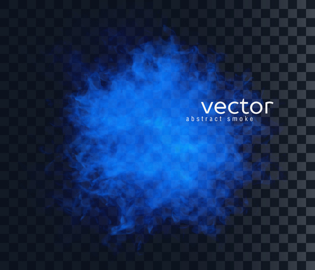 special effect: Vector illustration of smoky shape. Isolated transparent special effect. Illustration