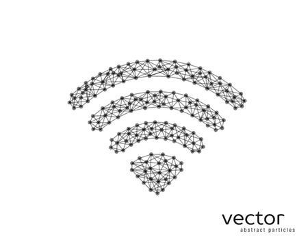Abstract vector illustration of wi-fi sign on white background. Illustration