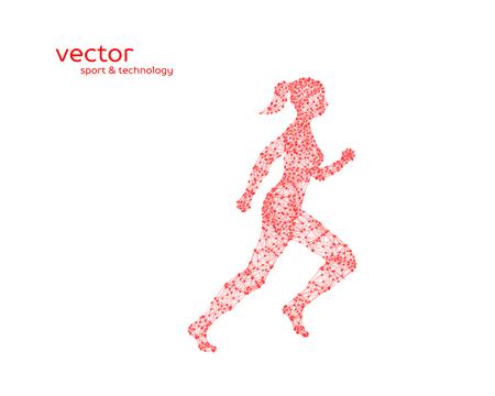 Ilustración abstracta del vector de la mujer corriente en el fondo blanco.