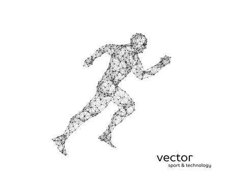 Abstract vector illustration of running man. Illustration