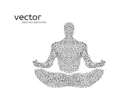 buddha lotus: Abstract vector illustration of human in lotus pose.