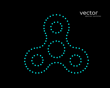 Abstract vector illustration of hand spinner. Background and text on a separate layer. Illustration