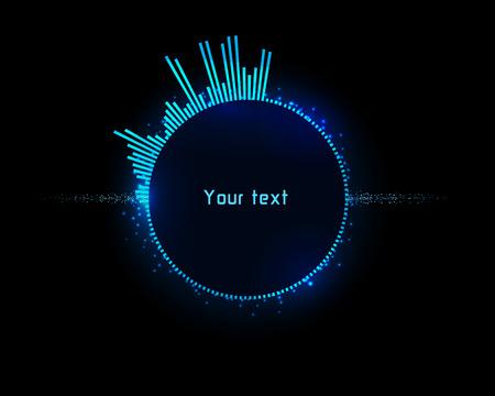 ヘッドアップディスプレイとして未来的なブルーインフォグラフィック。デザインのテンプレートとして使用します。 写真素材 - 85779303