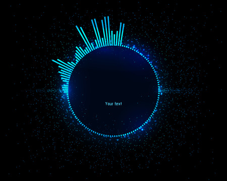 Futuristic space infographics as head-up display. Use it as template for your design.