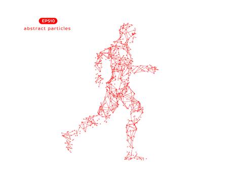 Abstract vector illustration of running man. Vectores