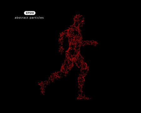 Abstract vector illustration of running man.