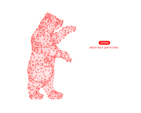 Vector abstract illustration of bear. You can easily change color.