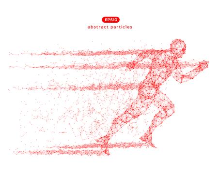 Abstrakte Vektorillustration des laufenden Mannes. Sie können die Farbe leicht ändern. Vektorgrafik