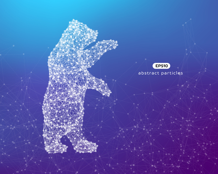 Abstract illustration of a bear. You can easily change color.