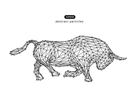 Illustration abstraite de vecteur de taureau. Vous pouvez facilement changer de couleur.