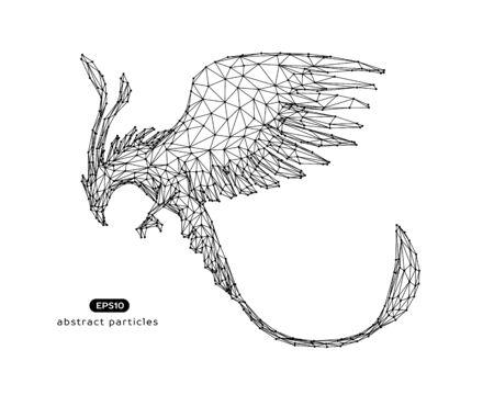 Vector abstract illustration of phoenix.