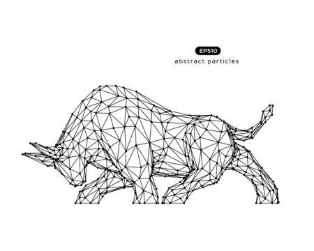 Vector abstract illustration of bull.