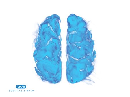 Abstract vector illustration of human brain on white background.