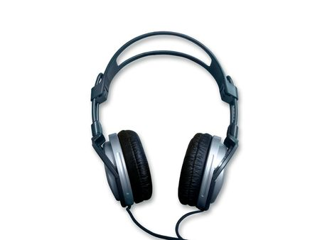 noise isolation: headphone, music, listen, cable, ear, sound, noise, hear, mp3, player, portables, song, entertainment, background, isolation Stock Photo