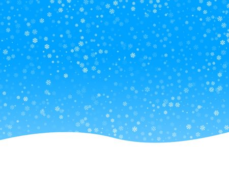 Winter background with many snowflakes Stock Photo - 2017037