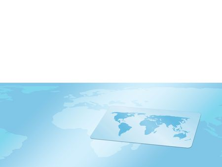 Background, card with world map photo