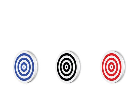 Blank colors targets, computer generated photo
