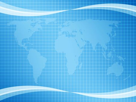 sea side: abstract background with world map