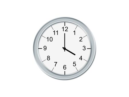 oclock: Analog clock isolated on a white background