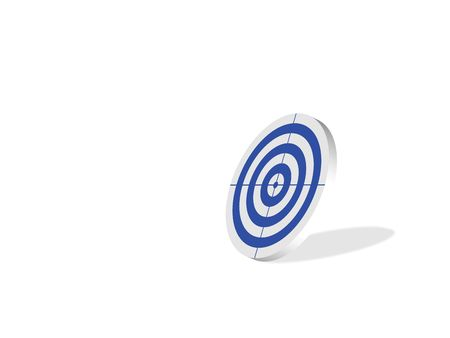 Blank blue target, computer generated photo