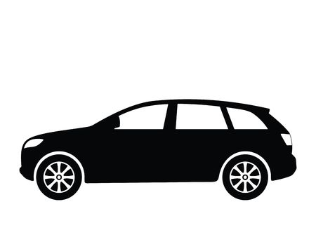 offroad car: Silhouette a car, illustration