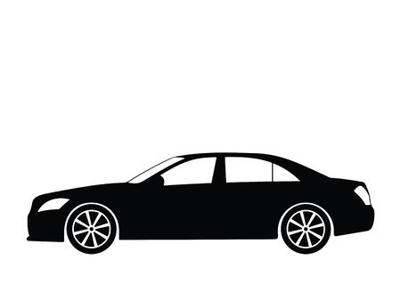 luxo: Silhouette a car, illustration