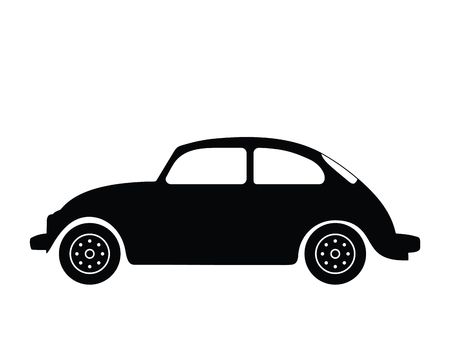 käfer: Silhouette alten Auto, Abbildung