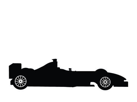 formula 1: Silhouette a formula 1, vector illustration Stock Photo