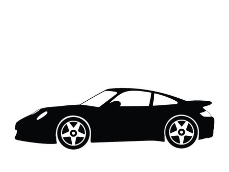 sports vector: Silhouette a sport car, illustration