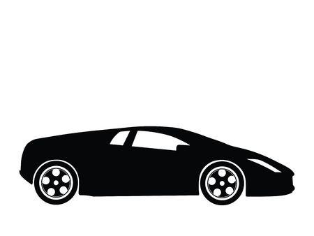 Silhouette a sport car, illustration Stock Illustration - 2563257
