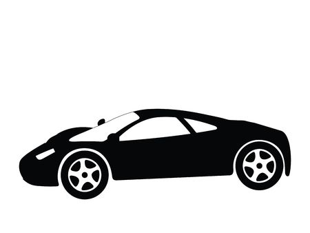 Silhouette a sport car, illustration Stock Illustration - 2563256