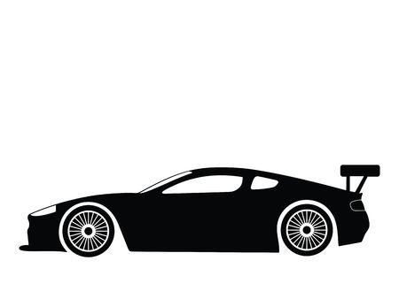 Silhouette a sport car, illustration Stock Illustration - 2563260