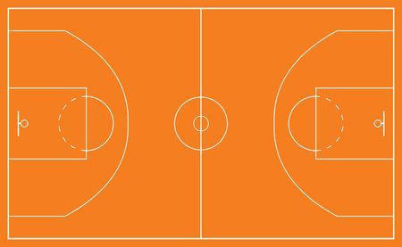basketball court and all court markings photo