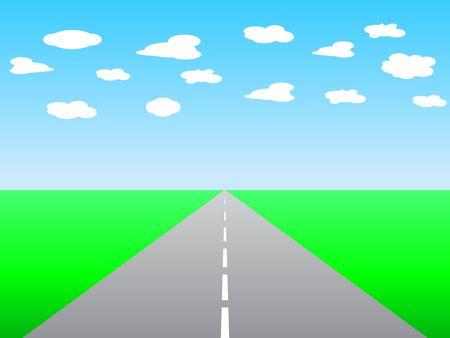 Illustration infinity road illustration