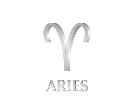 Astrological symbol of sign aries 3d photo