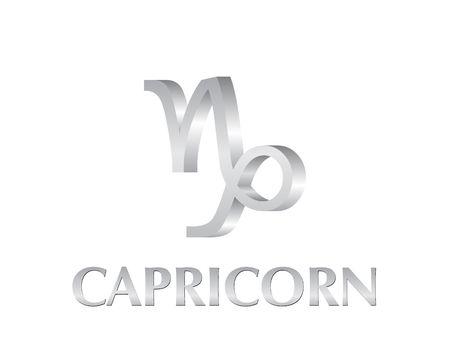 Astrological symbol of sign capricorn 3d photo