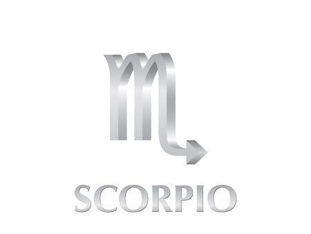 Astrological symbol of sign scorpio 3d photo