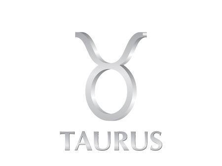 Astrological symbol of sign taurus 3d photo