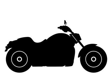 bicicleta vector: Silueta de motocicletas sobre un fondo blanco
