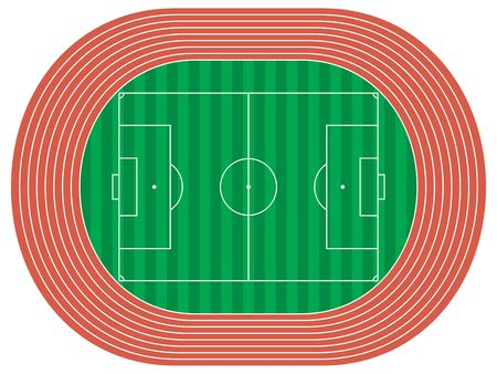 athletics track: illustration of a stadium Stock Photo