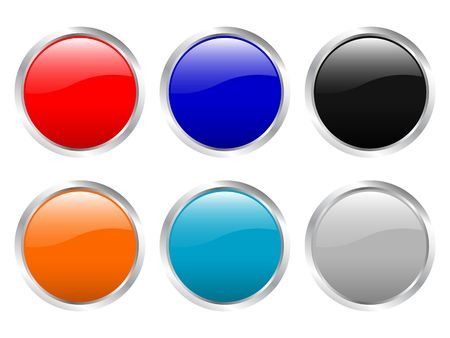 Glossy web buttons. Vector illustration (clipping path) illustration