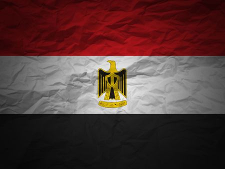 Egypt flag on a grunge paper background photo