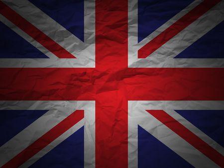 United Kindom flag on a grunge paper background photo