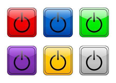 Power color web icon. photo