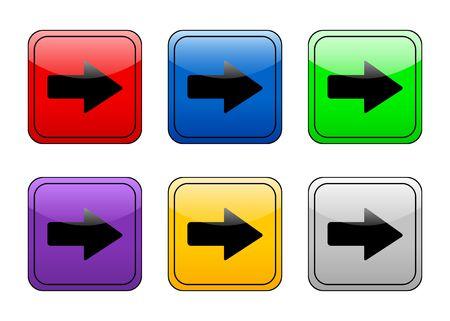 right arrow: Right arrow color web icon. Stock Photo